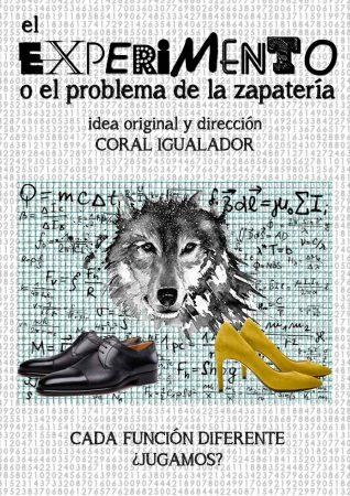 Cartel de El Experimento o El problema de la zapatería